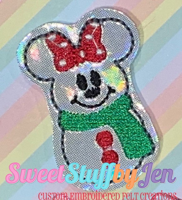 SSBJ Mrs Mouse Snowman Embroidery File