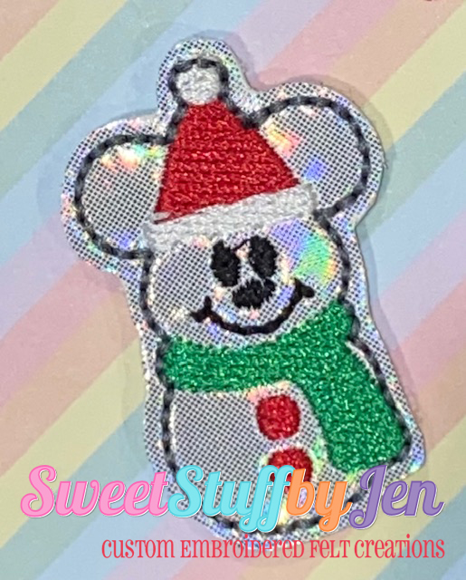 SSBJ Mr Mouse Snowman Embroidery File