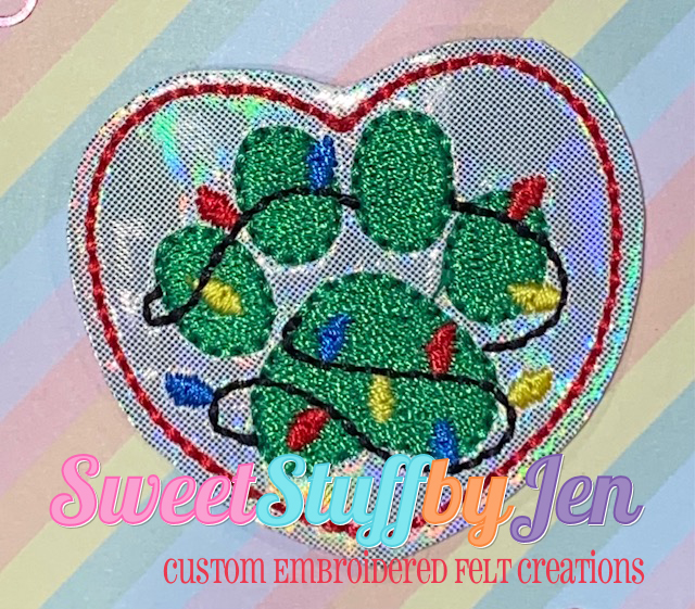 SSBJ Paw Lights Embroidery File