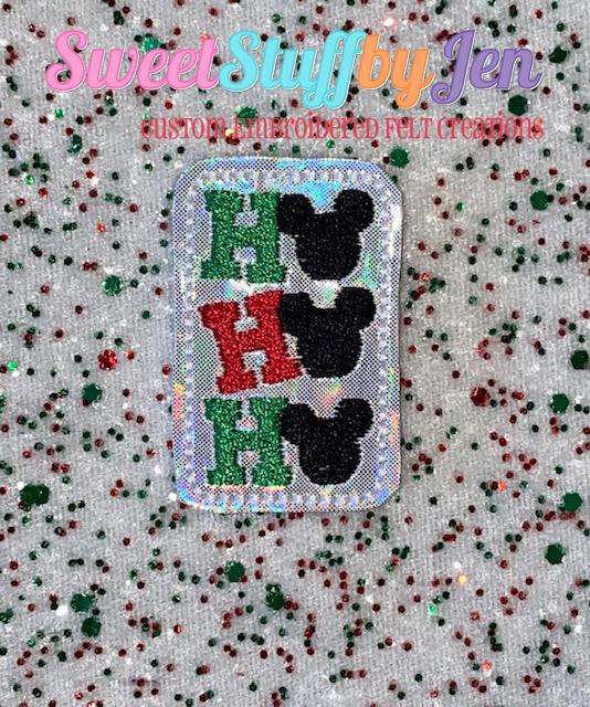 SSBJ Mouse HO HO HO Embroidery File