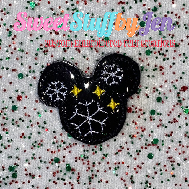 SSBJ Mouse Snowflake Stars Embroidery File
