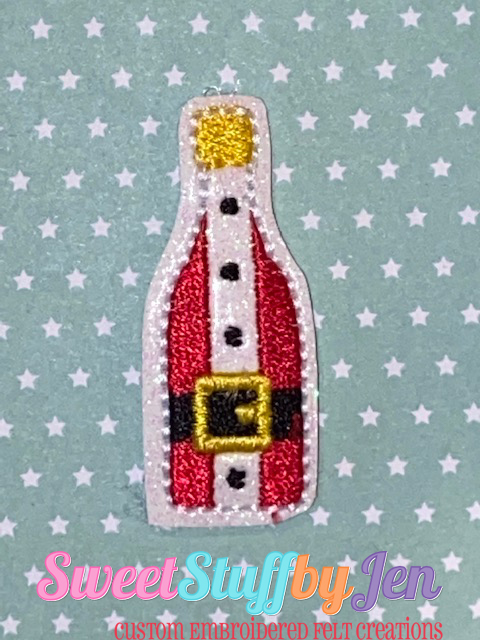 SSBJ Mr Claus Wine Bottle Embroidery File
