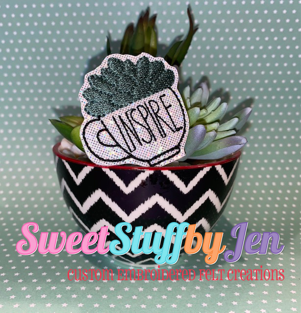 SSBJ Inspire Succulent Coffee Cup Embroidery File