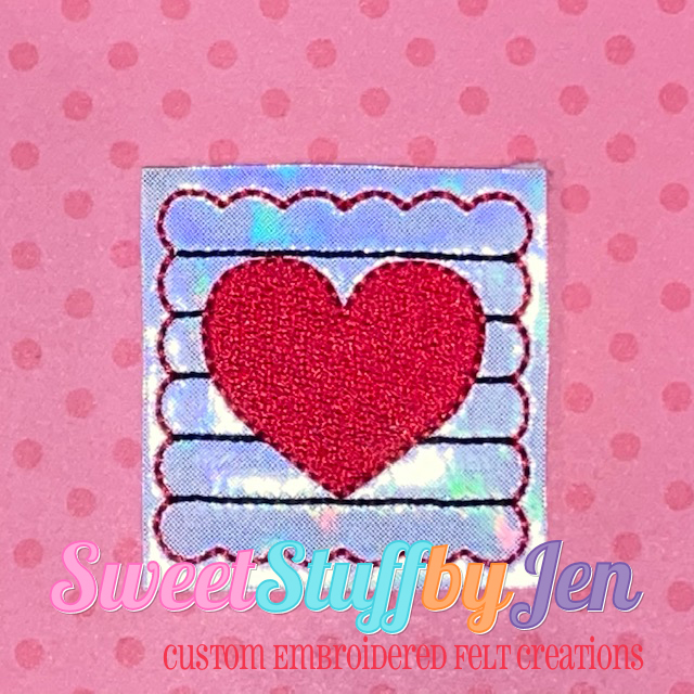 SSBJ Heart Stamp Scallop Embroidery File