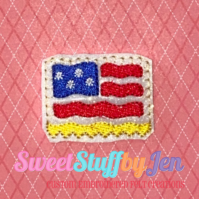 SSBJ US Flag Embroidery File