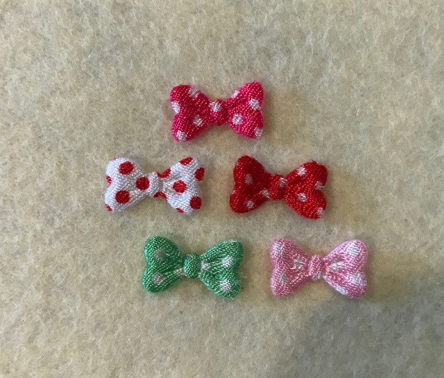 Mini Bow-Satin Polka Dot
