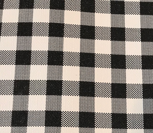 12x54 Buffalo Plaid LARGE Black & White Embroidery Vinyl
