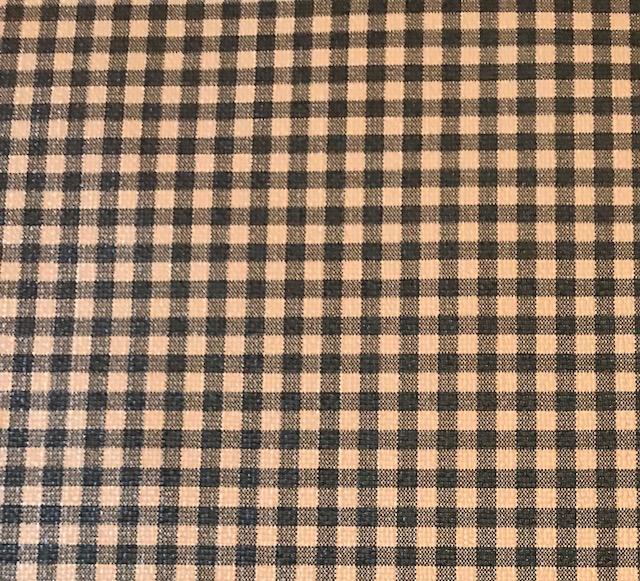 Buffalo Plaid SMALL Black Brown Embroidery Vinyl