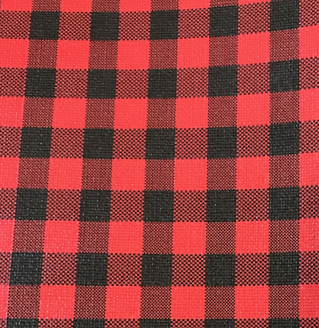 Buffalo Plaid LARGE Black & Red Embroidery Vinyl