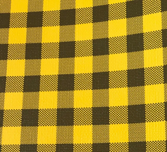 Buffalo Plaid LARGE Yellow & Brown Embroidery Vinyl