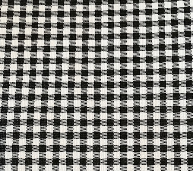 Buffalo Plaid SMALL Black & White Embroidery Vinyl