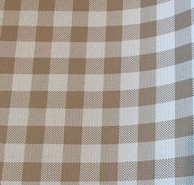 Buffalo Plaid LARGE White & Beige Embroidery Vinyl