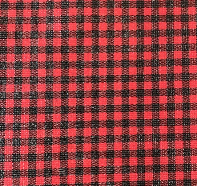 Buffalo Plaid SMALL Black & Red Embroidery Vinyl