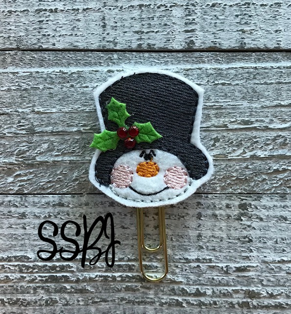 SSBJ Top Hat Snowman Embroidery File