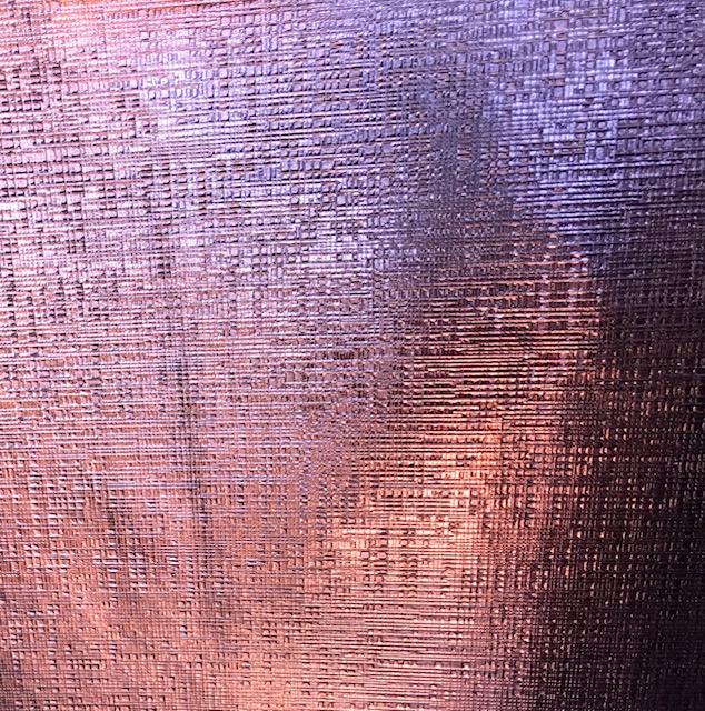 Checkered  Metallic Embroidery Vinyl Pink