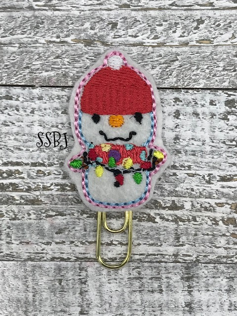 SSBJ Winter Lighted Snowman Embroidery File