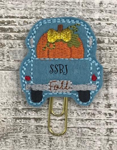 SSBJ Fall Truck Pumpkin Embroidery File