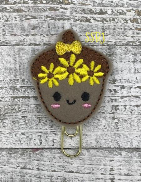 SSBJ Sunflower Acorn Embroidery File