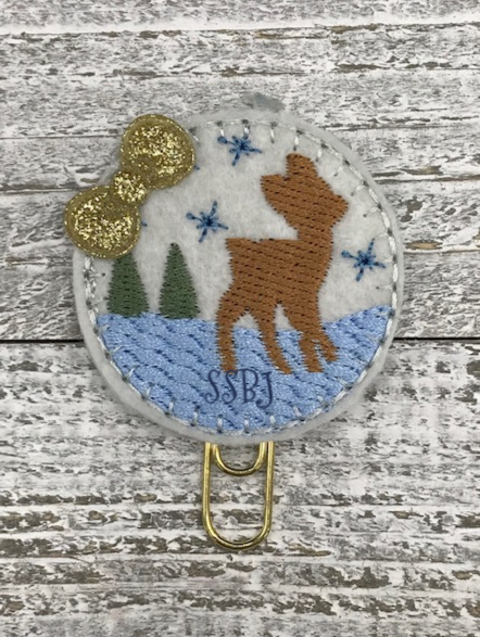 SSBJ Winter Scene Deer Embroidery File
