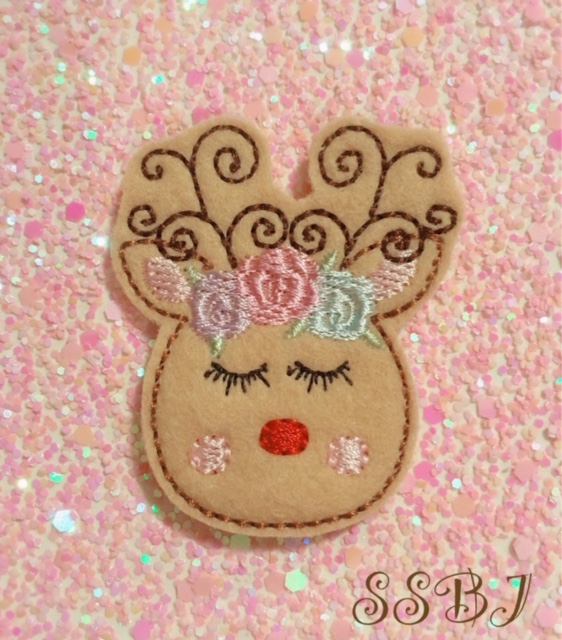 SSBJ Swirly Horn Deer Embroidery File
