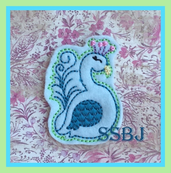 SSBJ Peacock Embroidery File