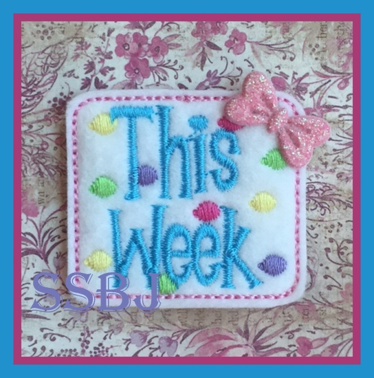 SSBJ This Week Embroidery File