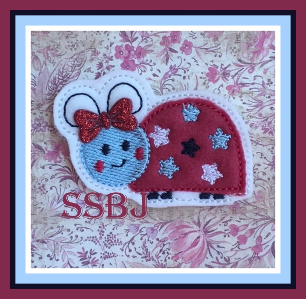 SSBJ Liberty Ladybug Embroidery File