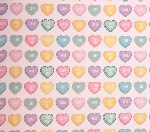 Printed Conversation Hearts Embroidery Vinyl