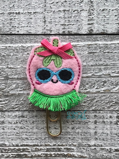 SSBJ Hula Girl Strawberry Embroidery File