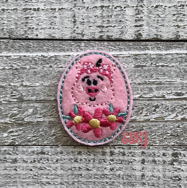 SSBJ Floral Piggy Embroidery File