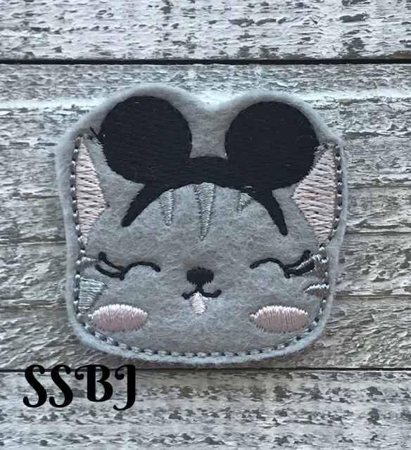 SSBJ Cute Cats Mouse Ears Embroidery File