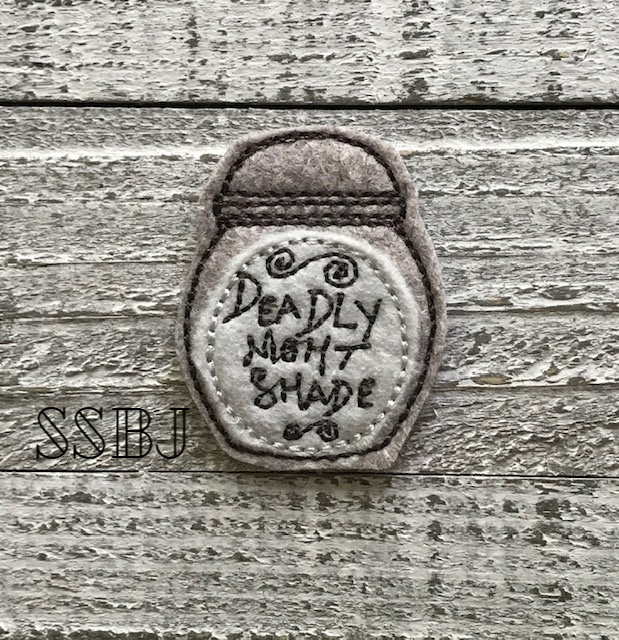 SSBJ Potion Deadly Night Shade Embroidery File