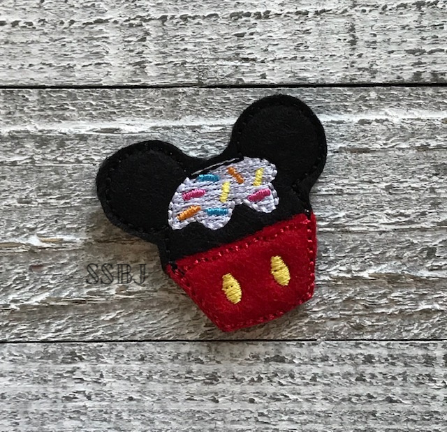 SSBJ Mouse Sprinkle Cupcake Embroidery File