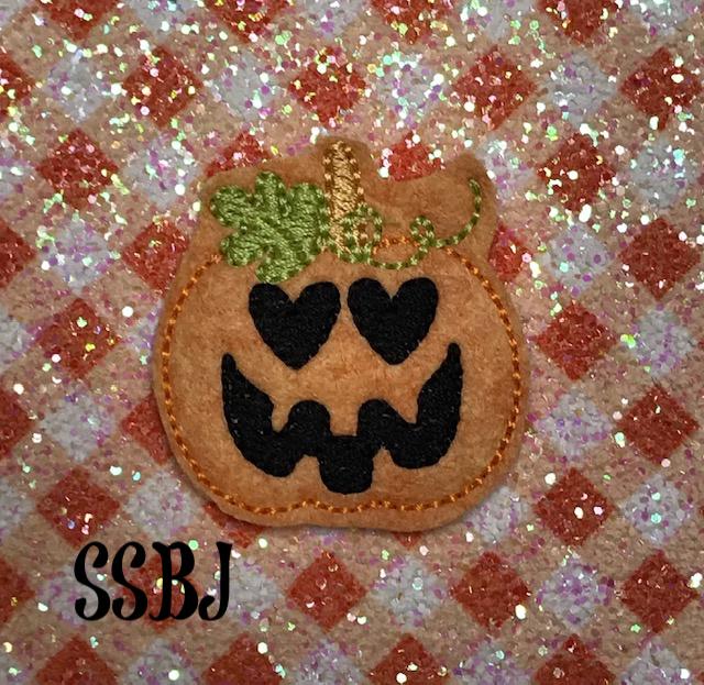 SSBJ Pumpkin Heart Eyes Embroidery File