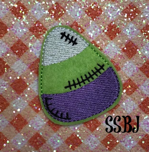 SSBJ Franken Candy Corn Embroidery File