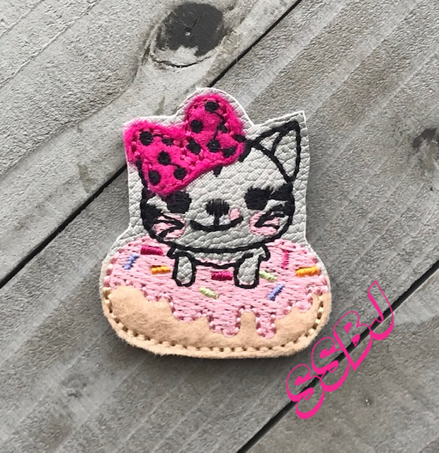 SSBJ Cute Cat Donut Embroidery File