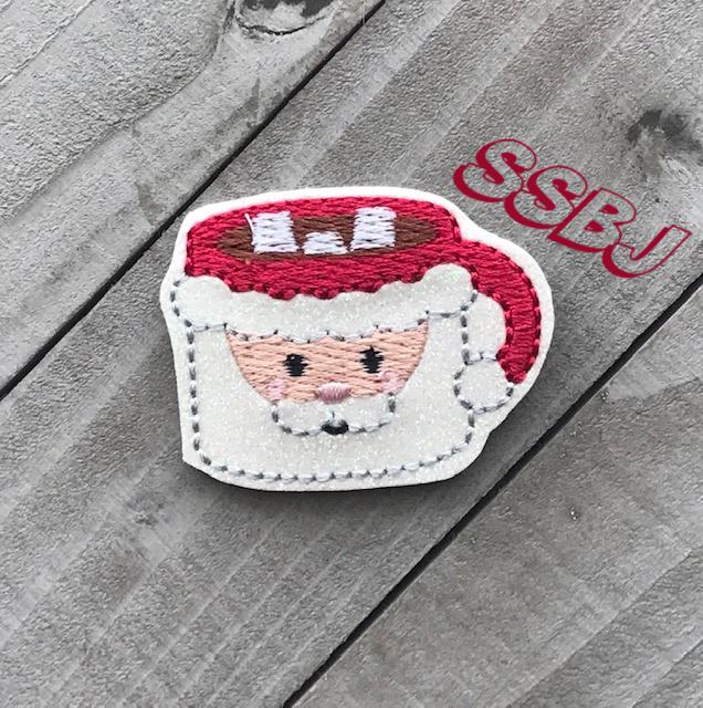 SSBJ Santa Coffee Mug Embroidery File