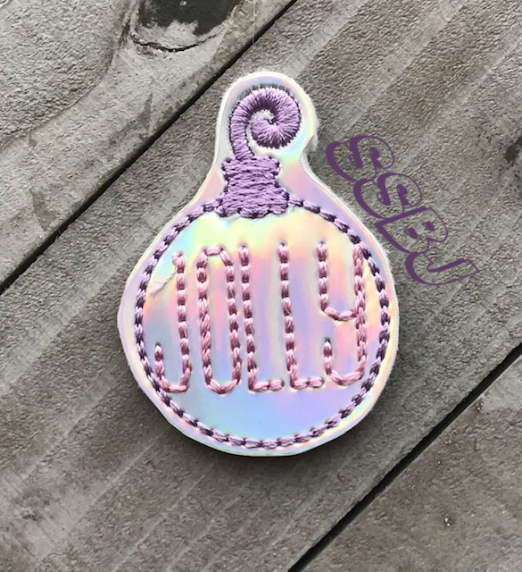 SSBJ Christmas Ornament Jolly Embroidery File