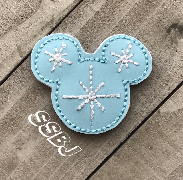 SSBJ Mr Mouse Snowflake Embroidery File