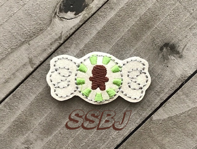 SSBJ Peppermint Candy Gingerbread Man Embroidery File
