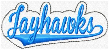 Jayhawks Glam Band Embroidery File