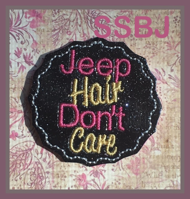 SSBJ Jeep Hair Don't Care Embroidery File