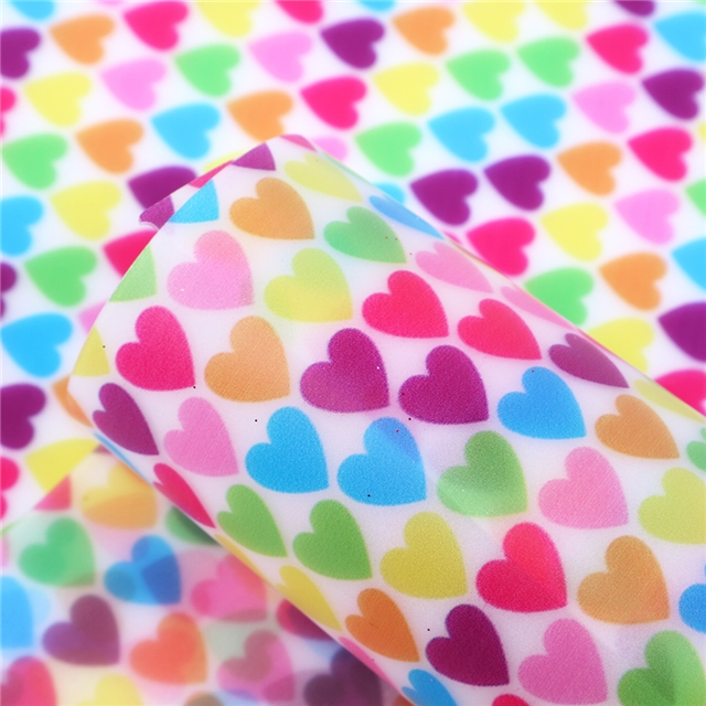 12x54 Transparent Jelly Multi colored Hearts
