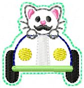 June Kitty Club Embroidery File