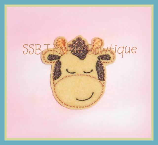 Jungle Giraffe Embroidery File