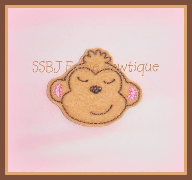 Jungle Monkey embroidery File