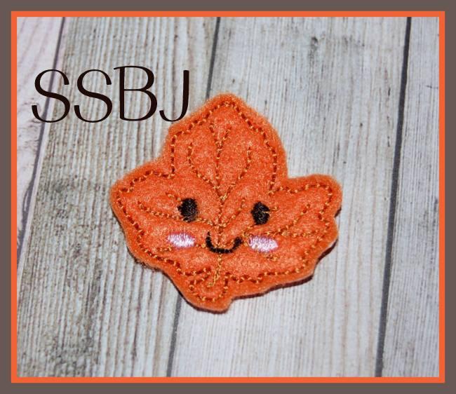 SSBJ Kutie Fall Friends Leaf Embroidery File