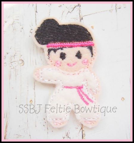 Karate Girl Embroidery File