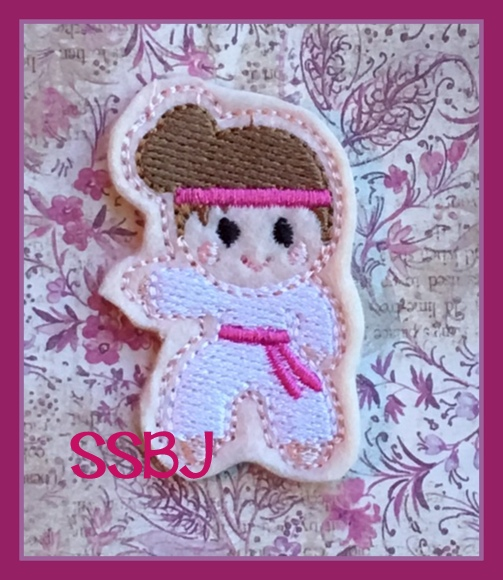 SSBJ Karate Girl FILLED Embroidery File