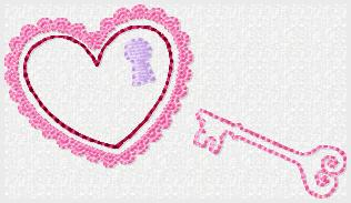 Key To My Heart Embroidery File
